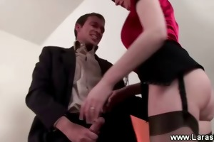 older lady humps younger cock