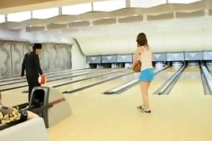 asian hoes playing bowling