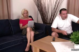 his wild parents lure her into threesome