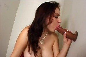 juvenile large titty girl deepthroats ramrod at
