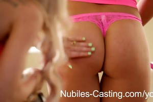 latina legal age teenager turns casting shoot