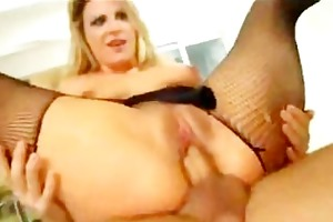 milf acquires both holes fucked