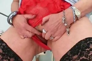 big boobs redhead lady dildoying hairy pussy