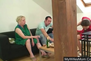 boy bangs his mother in law whilst wife away