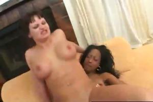 zebragirls - ebon lesbian babes fuck unfathomable
