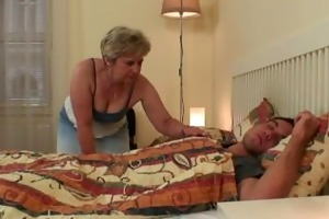 pecker hungry mother-in-law seduces him