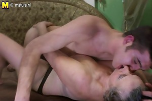 ribald grandma gets fucked by her toyboy