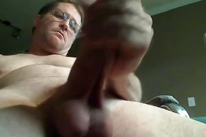 see daddy cum from below