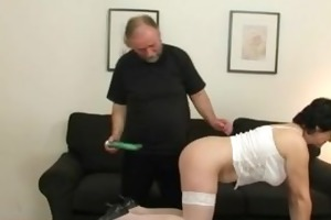 old bitch takes cocks after pussy toying