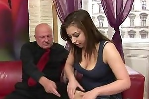 andi gets fucked by horny grand-dad