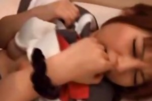 youthful japanese gets drilled
