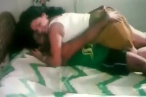 bro pressing sister wazoo and giving a kiss