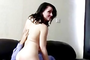 old fellow cums on schoolgirls wazoo after