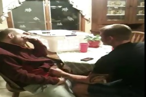 brother gives sisters bf fellatio
