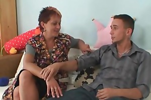 cock hungry mother-in-law jumps on his schlong