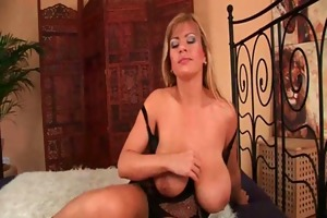 hot gilf copulates herself with a marital-device