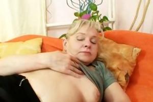 hairy vagina grandma in stockings kinky vibrator