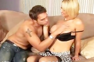 blonde milf arse squeezed and fucked