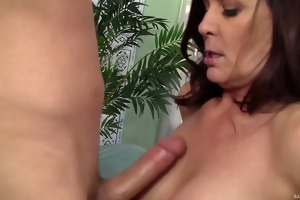 horny milf goes bonkers over young dick