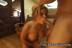 year old blond nailed