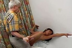 miniature titty asian fucks an old fart hardcore