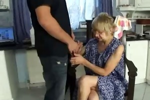 old lady gets screwed by young cock