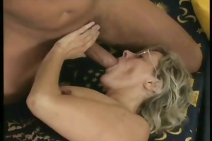 concupiscent granny simone admiring a younger dong