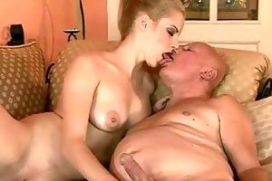 very old grandpa fucks young beauty