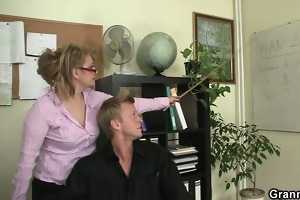 office wench enjoys riding his rod