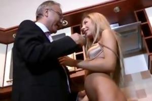 juvenile blonde whore plays with wrinkled shlong