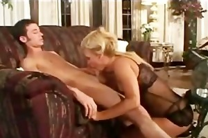 young guy fucks aged cougar