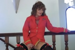 horny granny pilot finger fucks old snatch