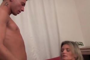 sexy milf gets drilled and sucks his cock dry
