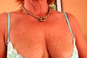 plump grandma fucks his cock with her unshaven
