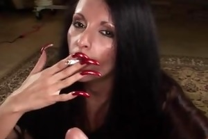 smoking long haired bitch drilled