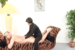 horny milf from china loves having sex on daybed