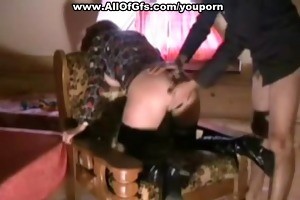 redhead in nylons doggy drilled