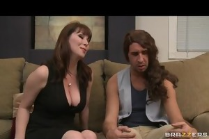 cheating big-tit brunette milf floozy copulates