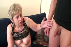 she warms up her old pussy previous to cocks