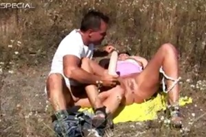 lascivious milf gets fucked hard outdoor part2