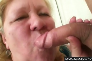 boyfriend caught cheating with her fat old mom