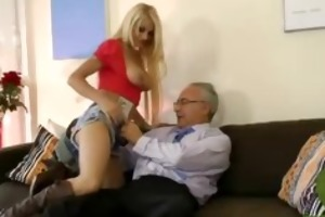nylons hotty fucking old man