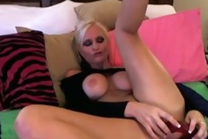 super hot blond playing with her cum-hole