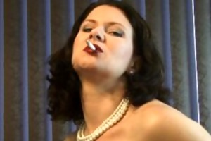 sexy d like to fuck puffs on a cigarette