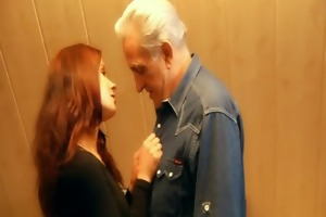 redhead excited honey rewards generous old man