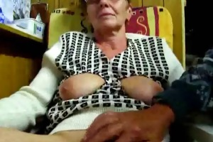 grandad masturbates his wife with fingers