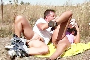 lewd milf gets drilled hard outdoor part1