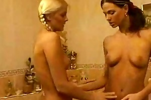 sexy young lesbians in washroom and bed8