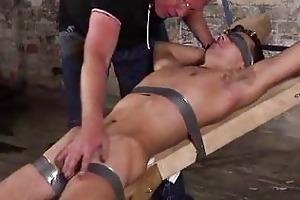 old fetish man punishing a bigcock serf boy