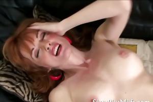 horny sixty year old fingering cum-hole